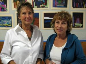 Curley School artists Mari Kaestle and Pilar Hanson