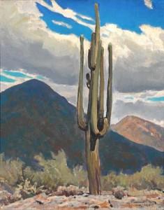 The painting 'Saguaro' by Maynard Dixon
