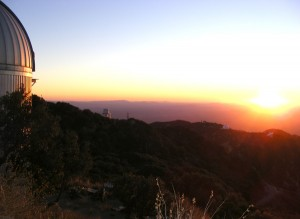 Sunset over Kitt Peak Observatory