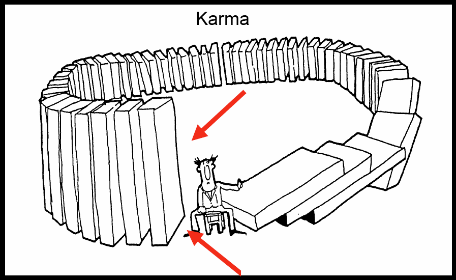 Karma cartoon courtesy of themiddleway.net